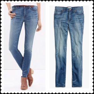 MADEWELL High Riser Skinny Jeans Sz 31
